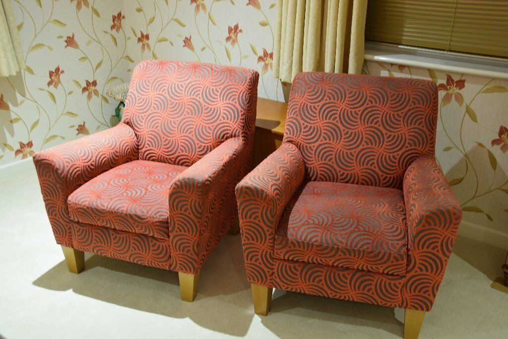 TWO ARMCHAIRS AS NEW