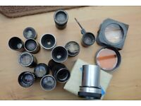 A miscellaneous collection of projector lenses