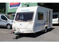 Bailey Ranger series 6, 380-2 (Year 2009), 2 berth, light weight caravan 997kg MTPL