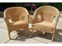 Children's Wicker Chairs x2