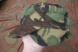 Two Vintage 1980s - British Army DPM 'crap' Caps