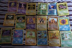 pokemon card bundle with original gyarados hitmonchan jungle team rocket