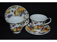 PORCELAIN CUPS WITH SAUCERS, TEA CUPS, COFFEE CUPS