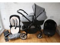 Silver Cross Pioneer Special Edition Eton grey pram pushchair + car seat 3 in 1 CAN POST