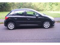 2008 peugeot 207 1398cc s hdi diesel 5 door in black 42000miles £30tax for the year.