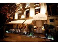 Waiter / waitress required for Notting Hill restaurant / bar
