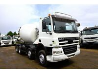 2003 DAF CF85.340 8X4 CONCRETE MIXER TRUCK CEMENT MIXER TRUCK VOLVO MIXER SCANIA MIXER FOR SALE