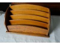 Antique/vintage wooden Desk/letter tidy