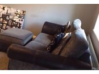 Sofa 2 seater with inching foot stool in perfect condition