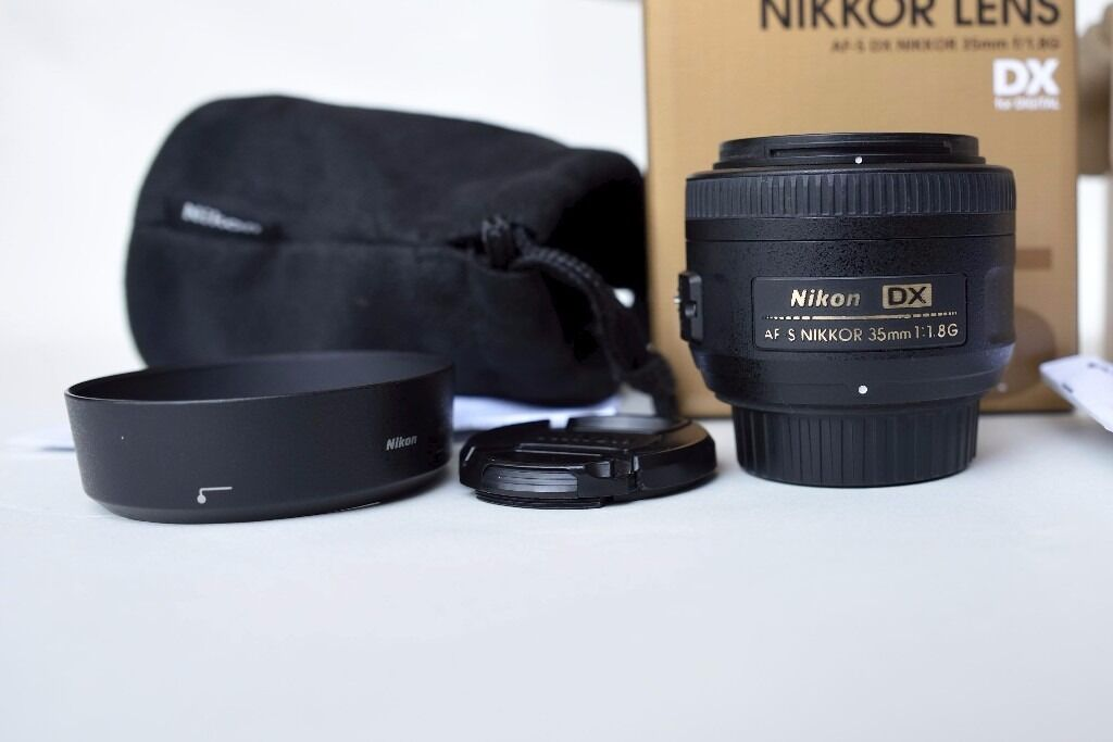 Nikon Nikkor AF 2183 35 35mm f/1.8 AF S L DX G Lens In good condition no dust or scratchesin Washington, Tyne and WearGumtree - Nikon Nikkor AF 2183 35 35mm f/1.8 AF S L DX G Lens In good condition no dust or scratches on lens comes with front cap, rear cap, hood and soft case , selling as moved to FX format, this lens will never come off your camera once on, if you are...