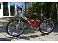 12 inch FRAME 20 inch WHEEL FALCON RED RAPTOR 2D BICYCLE - 5 SPEED SHIMANO GRIP SHIFT GEARS BS 6102