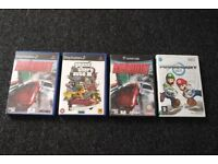Multi-listing for classic '00s video games (PS2, Gamecube, Wii, GTA, Mario Kart, F-Zero GX)