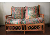 Wicker Sofa and Chair - Conservatory Suite - for sale together or individually