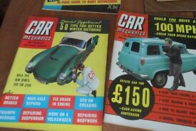 Collectable car magazines from 1956 , great graphics 12 in total £40 for the lot.