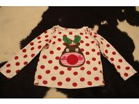 Girls Christmas spotty Rudolph top 2-3 years