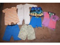 """BUNDLE OF BABY BOY CLOTHES AGE 6-9 MONTHS """"NEXT - MOTHERCARE - H&M"""" & OTHER BRANDS"""