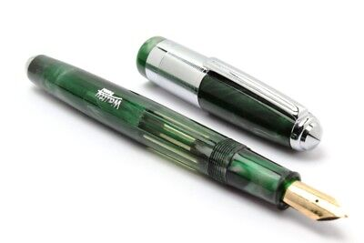 Buy 1 Get 1 Free- Wality 71J Eyedropper Big Size Fountain Pen Green Marble Body