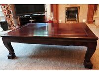 2 x Solid rosewood coffee tables