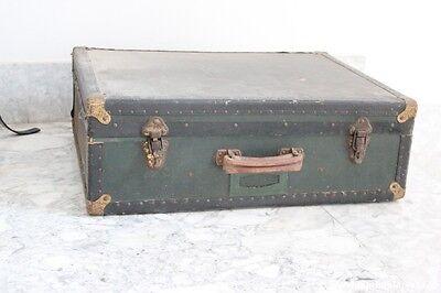 alt Koffer in Karton GrÜn cm65x50 - Kofferraum Jahrgang - GepÄck 50 Jahre - 60