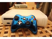 Xbox 360 with 250GB hard drive + Chrome series controller