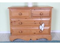 DELIVERY OPTIONS - RUSTIC SOLID PINE CHEST OF 4 DRAWERS FARMHOUSE TONGUE GROOVE