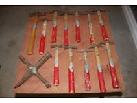 12 Vintage Whitehouse Panel Beating Hammers & Dolly / Former