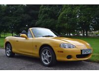 MAZDA MX-5 ARIZONA CONVERTIBLE SOFT TOP IN YELLOW MOT MARCH 2017 LEATHER HEATED SEATS ALLOYS!!!