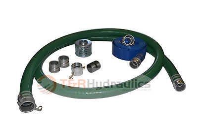 2 Green Water Suction Hose Honda Complete Kit W100 Blue Discharge Hose