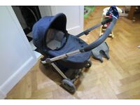Babystyle Oyster Travel System - Carrycot, Pram and Buggyboard plus extras