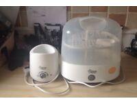Bottle steriliser and baby warmer