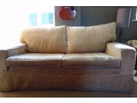Laura Ashley large 2 seater velvet sofa in excellent condition
