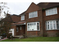 A SUBSTANTIAL FOUR BEDROOM TWO BATHROOM HOUSE WITH PARKING, GARAGE & OUTBUILDING NEAR TUBE & SCHOOLS