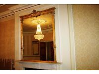 Overmantle Mirror - Mantelpiece fireplace mirror - Large
