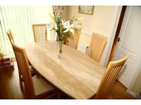 FOR SALE-BESPOKE ITALIAN GRANITE DINING TABLE & 6 CHAIRS & MATCHING SIDEBOARD !