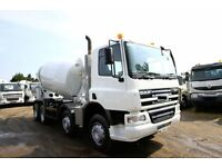 2007 DAF CF75.360 8X4 CONCRETE MIXER TRUCK FOR SALE CEMENT MIXER FOR SALE VOLVO MIXER MAN MIXER