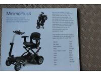 Minimo Plus 4 mobility scooter - 8 months old and unsused.
