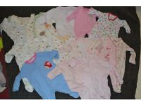Newborn - Up to one month baby girl clothes bundle