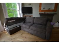 Suede Corner Sofa - 2 piece