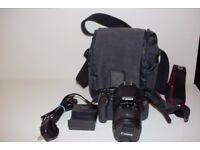 Canon EOS 600D / Rebel T3i DSLR Camera - Black (Kit w/ EF-S IS II 18-55mm lens)