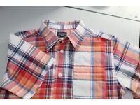 Boys (9-10 years) Short sleeved checked shirt