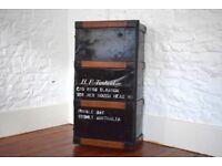 Antique,steamer trunk,metal chest,trunk,antique trunk,vintage trunk,