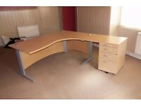 Premium Quality Crescent Desk (1800m x 800/1200mm). Extension (800mm x 600mm)