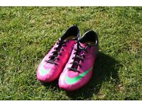 Pair of junior Nike Mercurial Football Boots, size 5
