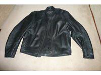 Weise Black leather jacket size 44 uk
