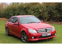 MERCEDES-BENZ C CLASS 2.1 C200 CDI Sport 4dr Auto (red) 2008