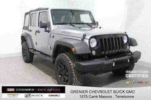 2016 Jeep Wrangler Unlimited *** WILLYS + 4X4 +GPS ***