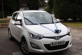 2014 White Hyundai i20, 1.2, 5 dr.