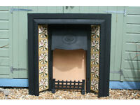 Victorian style Cast Iron Fireplace Surround with tiles