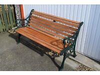garden bench cast iron and oak