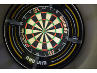 Dart light, board and winmau dart surround + dart sets and goodies